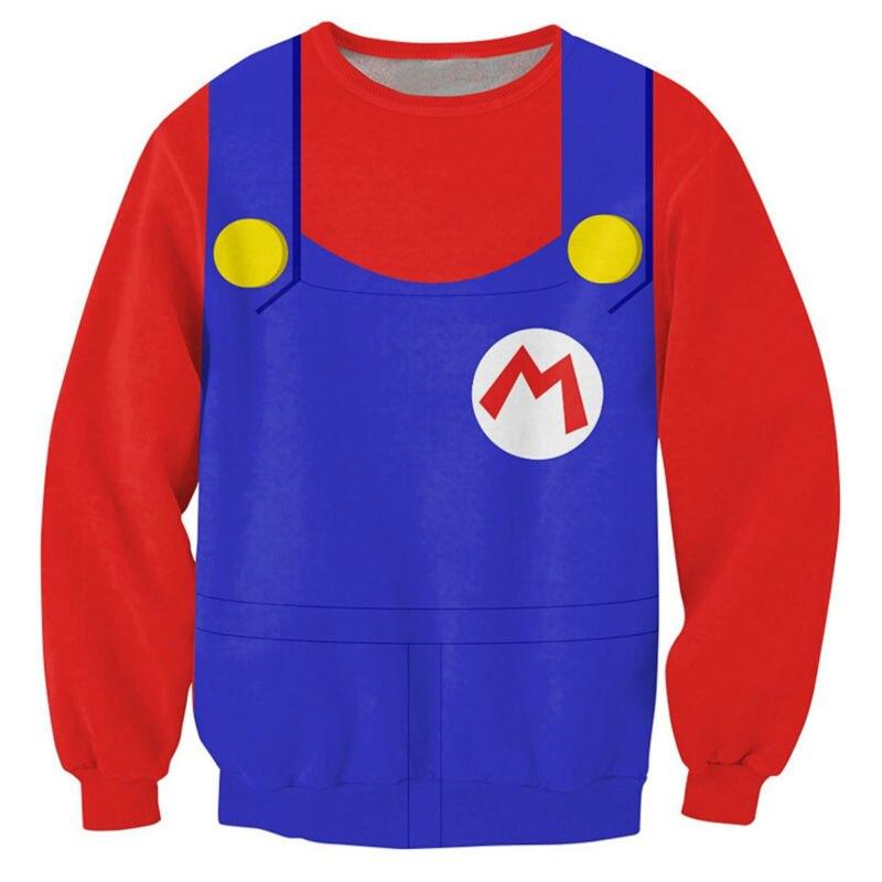 2018 NEW Fashion hot style men women 3D print Classic Super Mario shirt sweatshirt enchantress pullover hoodies free shipping ...
