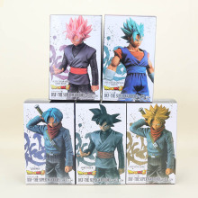 2pcs/set 18cm DXF Dragon Ball super warriors Super Saiyan trunks vegetto son goku Black Dragon Ball Z Action Figure model toy