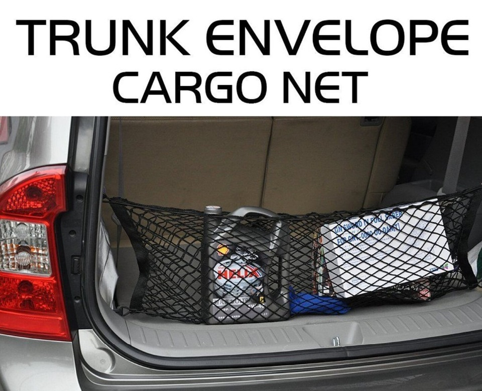 Universal Adjustable Elastic Truck Net with Hooks Heavy Duty Cargo Net Stretchable Truck SUV Storage Mesh Organizer Bungee for Car