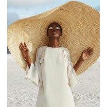 Женская мода большая шляпа от солнца пляжная анти-УФ Защита от солнца Складная соломенная крышка негабаритных складной зонт пляжная шляпа 71#45