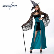 Sensfun Sexy Vampire Witch Costume Grim Reaper Women Long Dress Scary  Cosplay Costumes Women Clothes Halloween 3d94ccb34