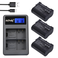 AOPULY EN-EL15 ENEL15 EL15 battery + LCD USB Dual Charger for Nikon D600 D800 D800E D7000 D7100 V1 D810 D610 D750 MB-D14 Camera