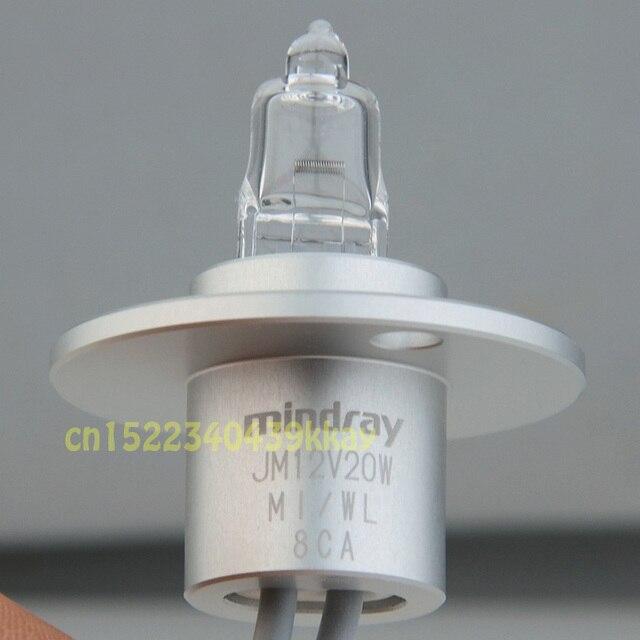 Original mindray bs200/bs220/bs330/bs400/bs800 lâmpada analisador de química mindray jm 12v20w lâmpadas de fonte de luz bioquímica