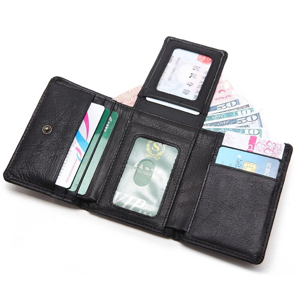 Artmi Mens Trifold Wallet RFID Läder Card Holder Kompakt Handväska - Plånböcker - Foto 3