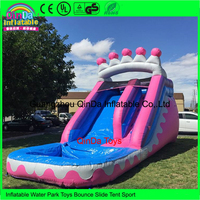 Commercial fun backyard bounce house blow up inflatable water slides with pool for rent