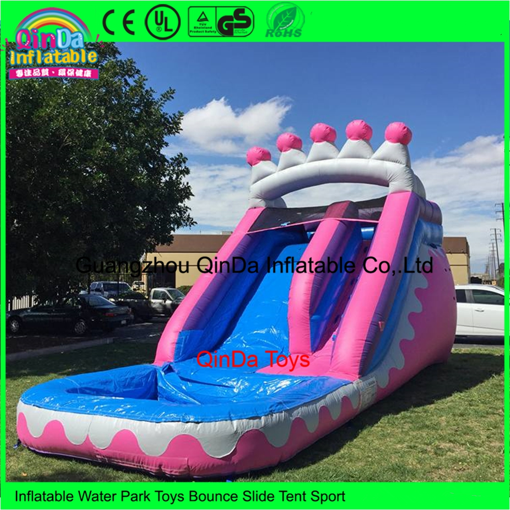 Commercial fun backyard bounce house blow up inflatable water slides with pool for rent commercial inflatable water slide with pool made of pvc tarpaulin from guangzhou inflatable manufacturer