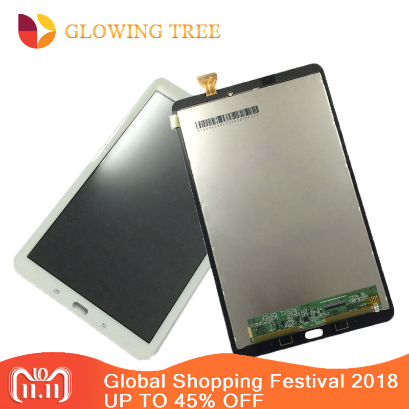 2Color For Samsung Galaxy Tab E 9.6 T560 T561 SM-T560 SM-T561 Touch Screen Digitizer Sensor + LCD Display Panel Monitor Assembly srjtek 9 6 for samsung galaxy tab e 9 6 sm t560 t560 t561 lcd display touch screen digitizer matrix tablet pc assembly parts