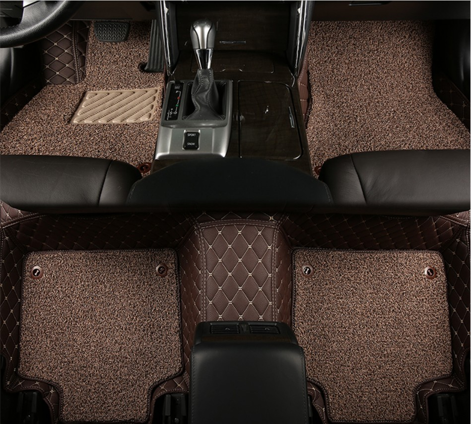 Floor mats jeep compass - For Jeep Compass 2017 2018 Car Floor Mats Foot Carpets Step Mat Cargo Liner High Quality Embroidery