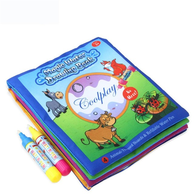 Magic Water Drawing Book Coloring Book Colored Notebook Baby Drawing ...