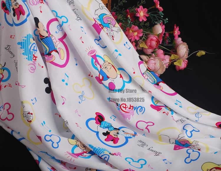 100*140 см мультфильм Микки Минни концертная хлопчатобумажная ткань для шитья девочка мальчик ребенок Diy ручной работы дизайнерское постельное белье домашний кошелек из ткани одеяло