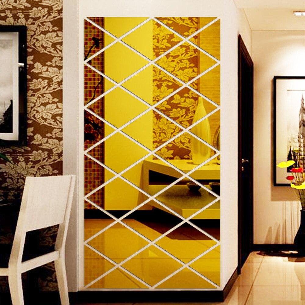 Specchio Sticker DIY 3D Decorazione Della Casa Soggiorno Specchio ...