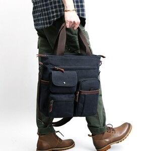 Image 2 - Jorgeolea גברים בד עסקי תיק תכליתי תיק מזדמן עבור גברים נסיעות ילקוט E502