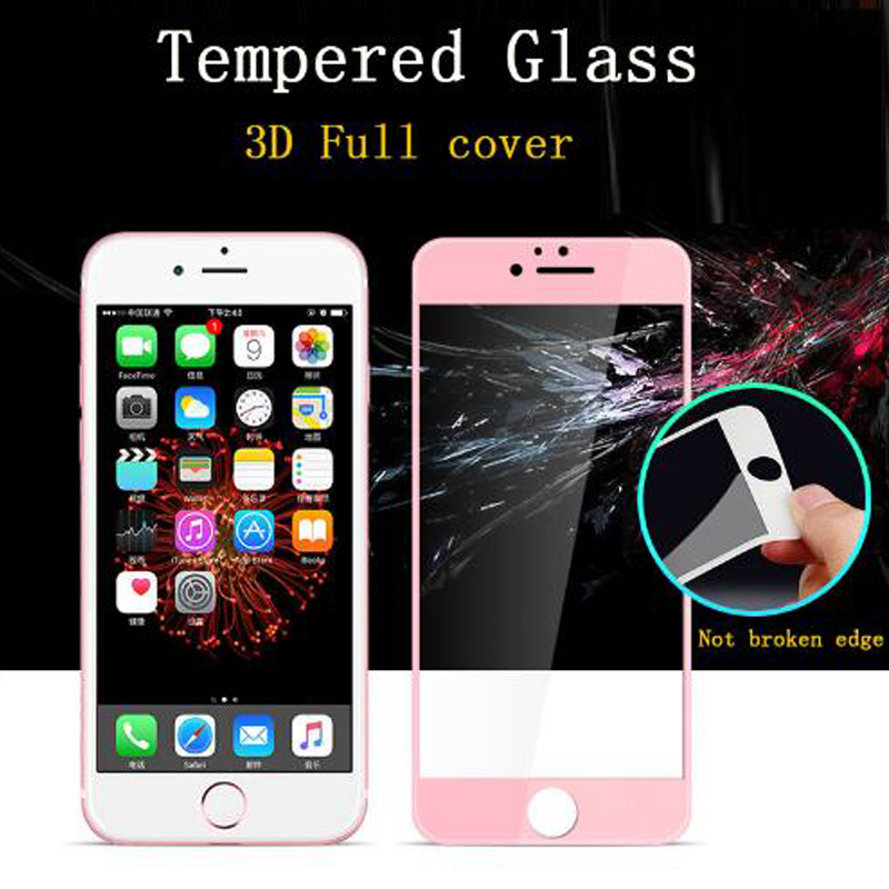 3D Tempered Glass on for iPhone 6 6s plus 9H Film Full cover protective glass for iPhone 7 plus Screen protector for iphone x 8 in Phone Screen Protectors from Cellphones Telecommunications
