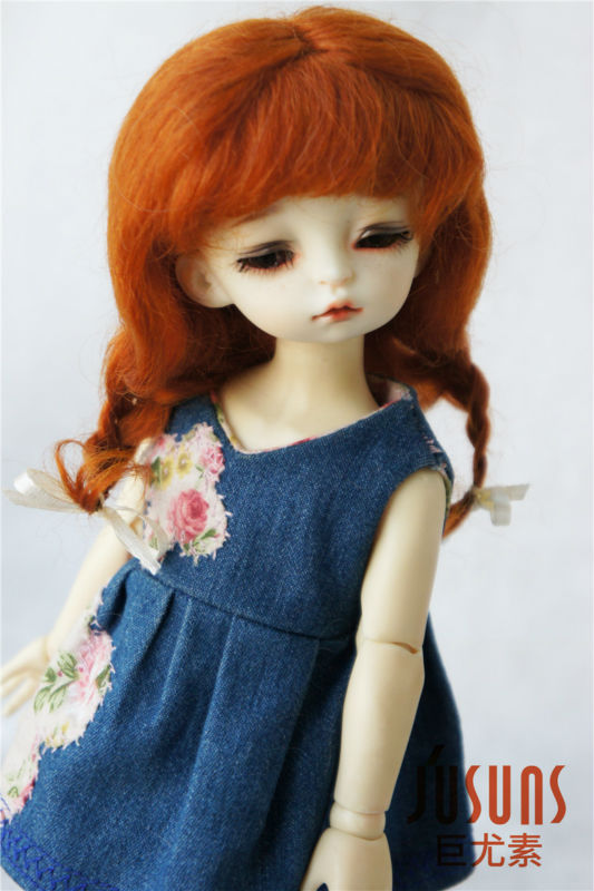 JD2031 1/6 mohair BJD pelucas de muñeca 6-7 pulgadas YOSD Long Lovly - Muñecas y peluches - foto 3