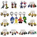 DHL or EMS 500PCS The Avengers Inside Out Mickey Minions Zootopia Keychains Toys PVC Keyring Pendants Car Key Chain Kids Gift