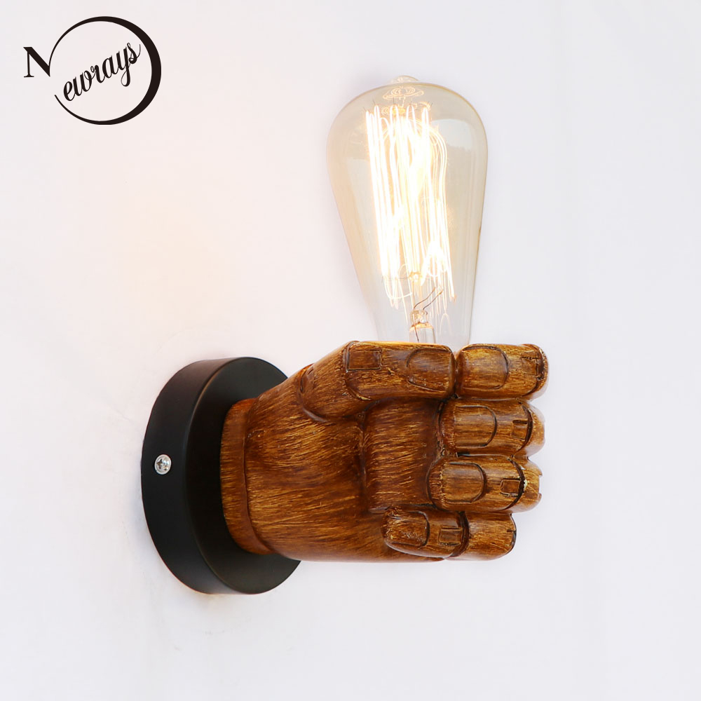 Loft Industrial retro resin Left Right hand style wall lamp LED sconce wall lights modern for home living room bedroom bathroom nordic loft creative loft milan industrial style modern bedroom study long arm living room villa copper bronze wall sconce lamp