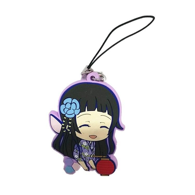 Yui Kawaii Girl Rubber Mascot Swing Keychain Sword Art