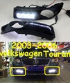 Car-styling,Touran daytime light,2003~2006,chrome,LED,Free ship!2pcs,car-detector,Touran fog light,car-covers,Touran,Tiguan