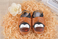 2016 Baby Toddler Soft sole leather shoes emboidery Brown Monkey 4 size U pick 0-2T boys girls