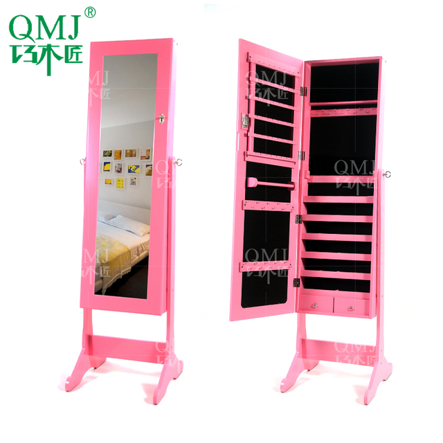 Ordinaire NEW Luxury Large Wooden Pink Jewelry Cabinet Bedroom Furniture Cabinet  Storage For Makeup Organizer Makeup Cabinet