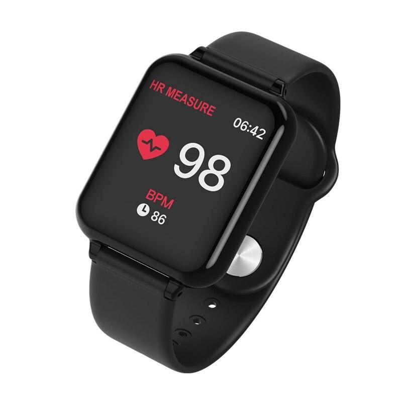 Tüketici Elektroniği'ten Akıllı Saatler'de 696 B57 akıllı saat IP67 su geçirmez smartwatch nabız monitörü çoklu spor model spor izci adam kadın giyilebilir