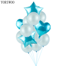 ФОТО yoriwoo babyshower blue theme 1st birthday party decorations kids first happy birthday balloons helium baby shower its a boy