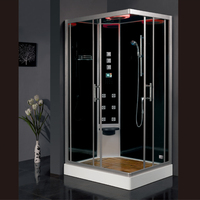2017 luxury steam shower enclosure with tempered glass bathroom shower cabins jetted massage walking in sauna rooms ASTS1055