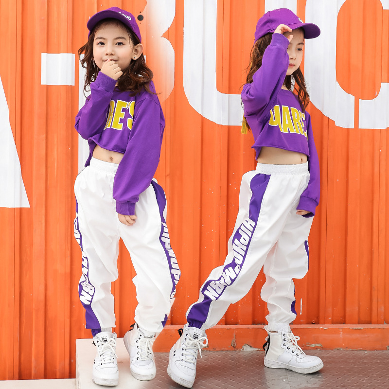 Kids Boys Girls Adult Women Men Hip Hop Dancing Costume For Competition Loose Children Jazz Hiphop Street Dance Wear Clothes