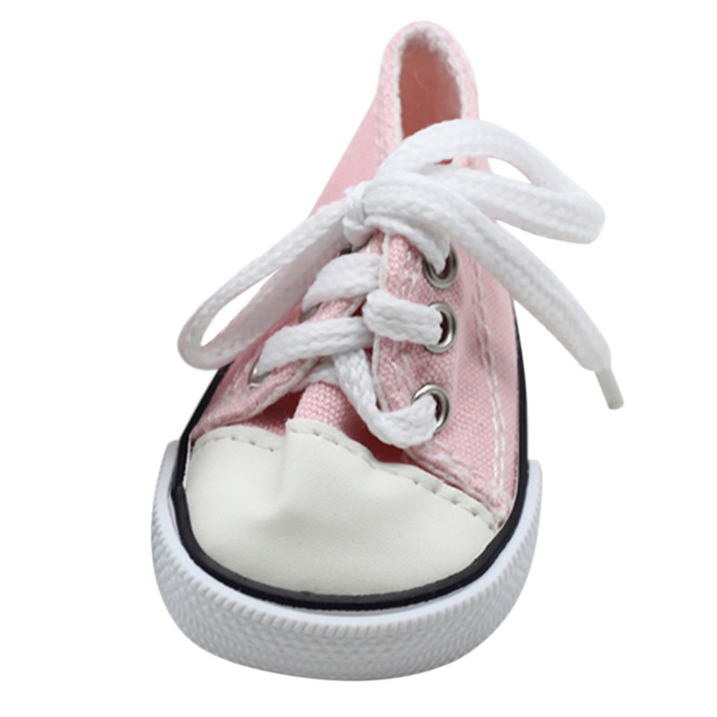 2018 NEW Canvas Lace Up Sneakers Shoes For 18 inch Our Generation American Girl & Boy Doll Dropshipping Wholesaling retailing P3
