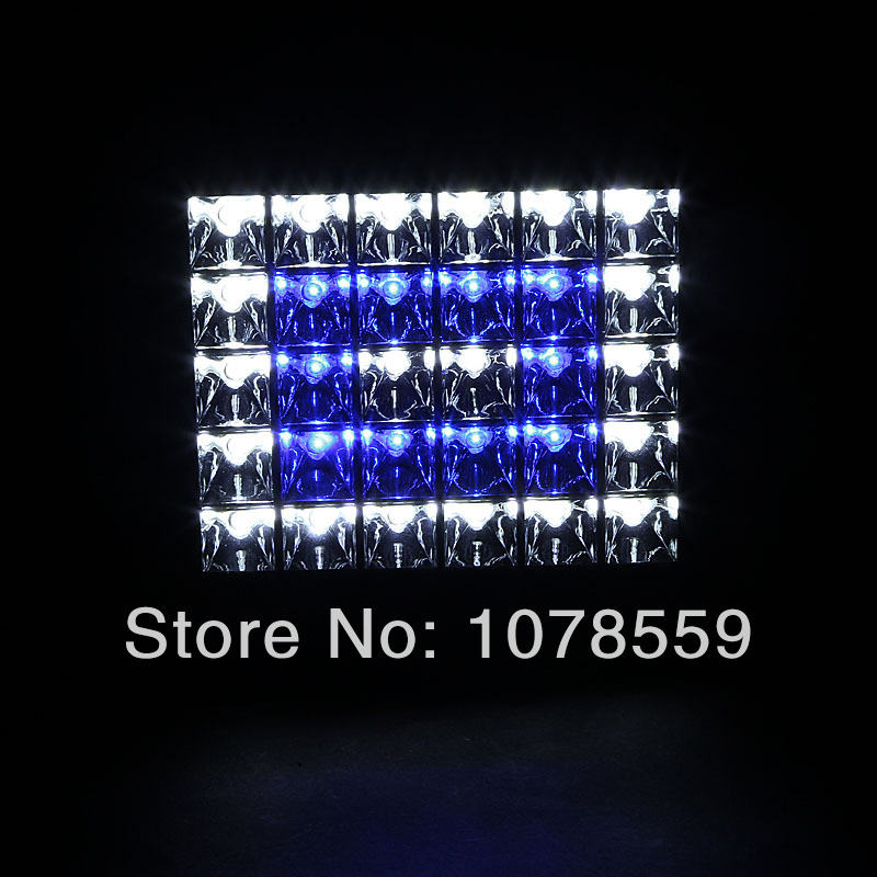 Newest Sign 90W LED Aquarium Flood Light White Blue Bright For Coral Reef fishes and aquatic animals Tank IP65 30X3W Flood lamp