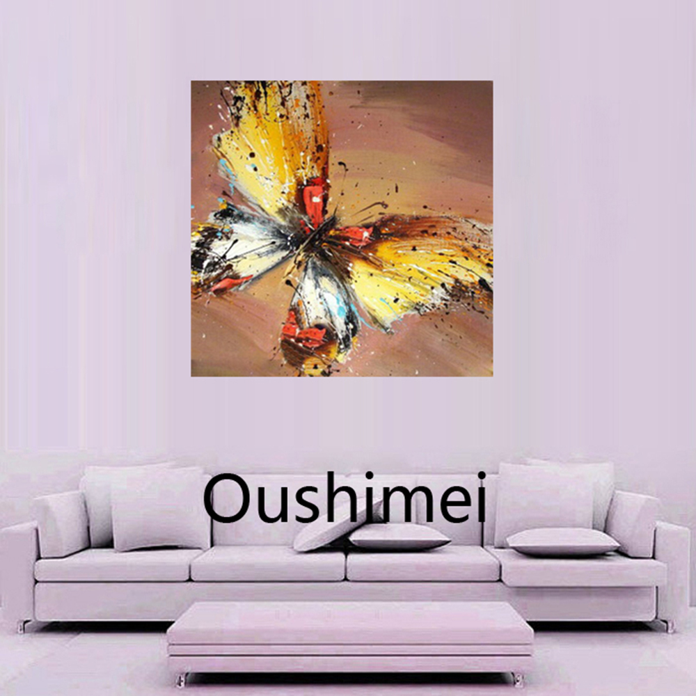 Wall Art Paintings For Living Room Aliexpresscom Buy Newest Handmade Different Color Butterflies