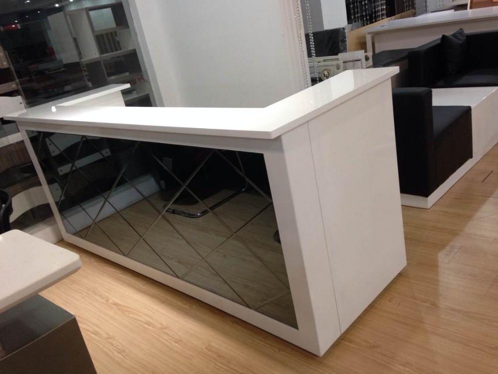2.45meter (8 Ft)hot Sale Wholesale Beauty U Shaped Salon Front Checkout Table Furniture #QT2418