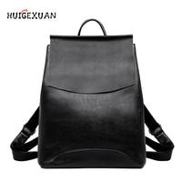 Classic style Women Backpack High Quality Fashion Genuine Leather Youth Backpacks for Teenage Female Female School Shoulder Bag