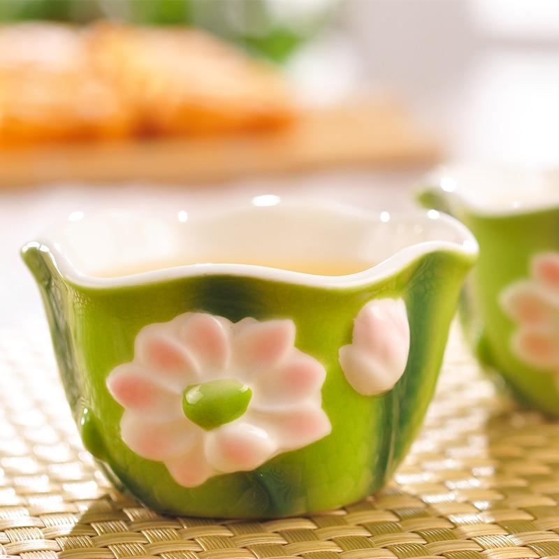 Esmalte de color Porcelain Tureen Juego de té Kungfu Kungfu Easy - Cocina, comedor y bar - foto 4