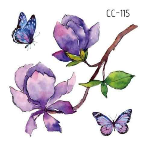 Temporary Tatoo Fake Tattoo Sticker Flower Butterfly Small fresh Tatouage Waterproof Flash Tatto Temporaire For Girl Women