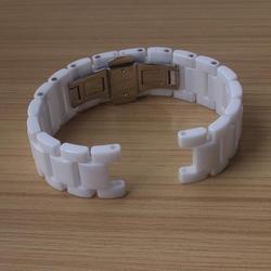 Ремешки для наручных часов Wo для мужчин s мм 20 мм вогнутый мм 11 мм Керамика интимные аксессуары нержавеющая сталь застежка часы ремешок
