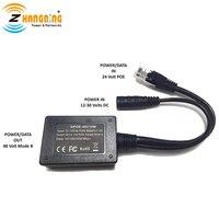 Вход 10-30 в гигабитный выход 48 Вольт настроен Инжектор PoE конвертер для любых устройств 802.3af или 48 В и Солнечный для преобразования PoE