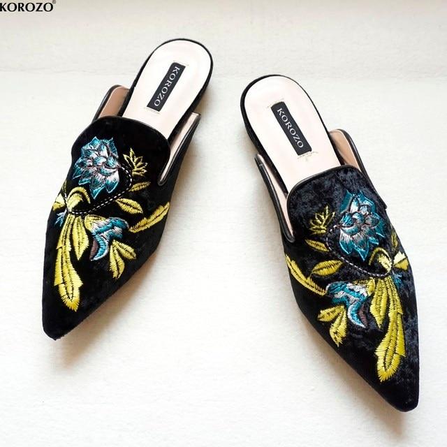 2018 Donne Del Ricamo Velet Muli Slides Chiara Ferragni Vestito Slipper 1.5  cm Heel Flip Flops ebf4b53cb0b5