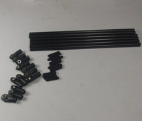 Reprap Kossel delta 3D printer parts 5347 end Rods Arms kit/set 6x 180mm Carbon tube M4x20mm set screws
