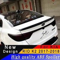 For Kia Rio K2 2017 2018 spoiler High quality ABS rear wing primer or any color rear spoiler For KIA Rio k2