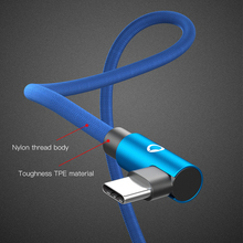 PZOZ USB Type C 90 Degree Fast Charging Cable L Type-c 3.1 data for Android
