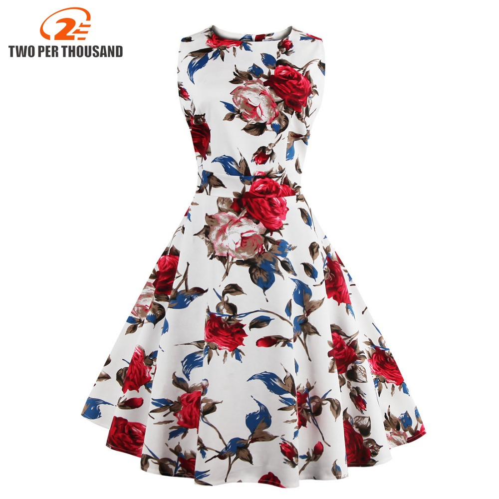 fce35859ce5 Plus Size 4XL Women s Vintage 50s 60s Pin Up Floral Rockabilly Tutu Pinup  Sleeveless Bodycon Evening Party Clubwear Formal Dress