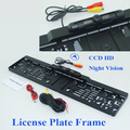New arrival EU Car License Plate Frame camera car reserve reversing camera bring ir  higest night vision 170 degree