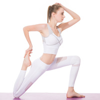 Womens Gym Fitness Clothes Sports Bra Legging Yoga Outfit Sportswear Ropa De Mujer Deportiva Female Tracksuit Jogging Sets White