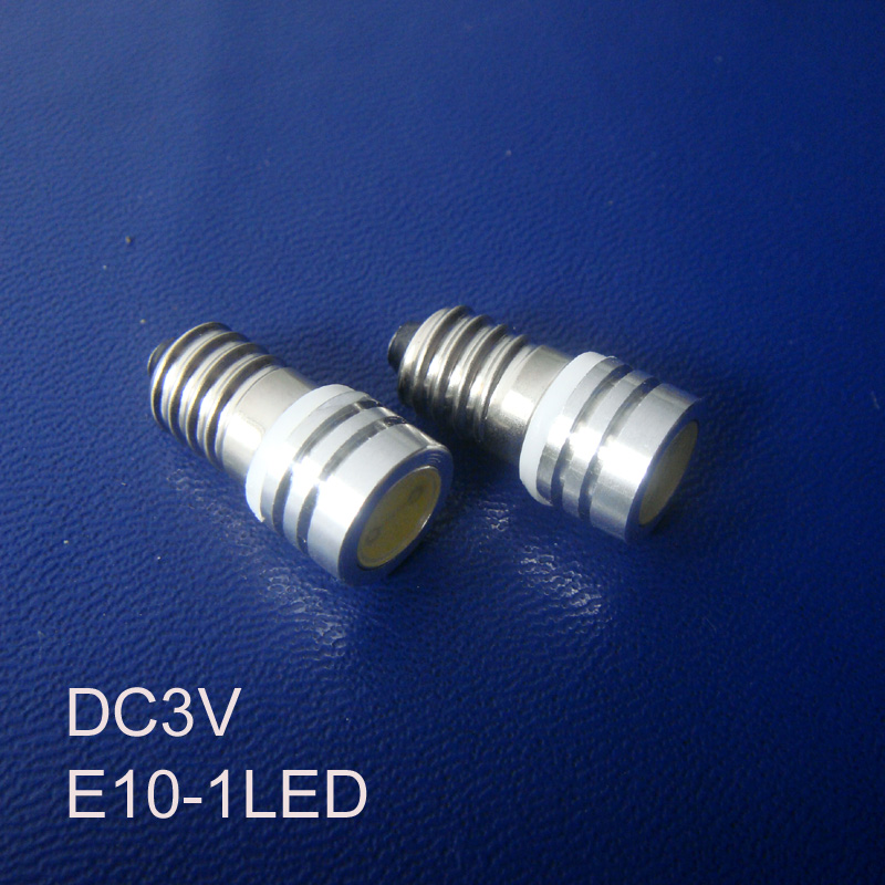 High quality DC3V E10 Led Instrument Light,Led Warning Light ,E10 Led Indicator Light,E10 Led Pilot Lamp free shipping 10pcs/lot
