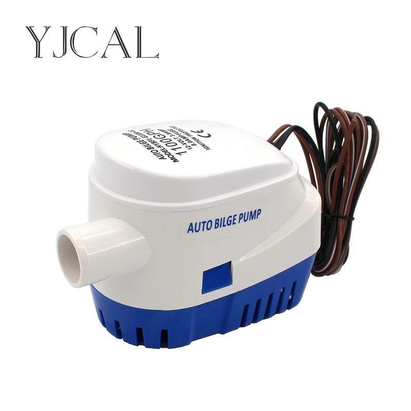Fully Auto Bilge Pump 600 750 1100GPH DC 12V 24V Electric Water Pump For Aquario Submersible Seaplane Motor Homes Houseboat Boat