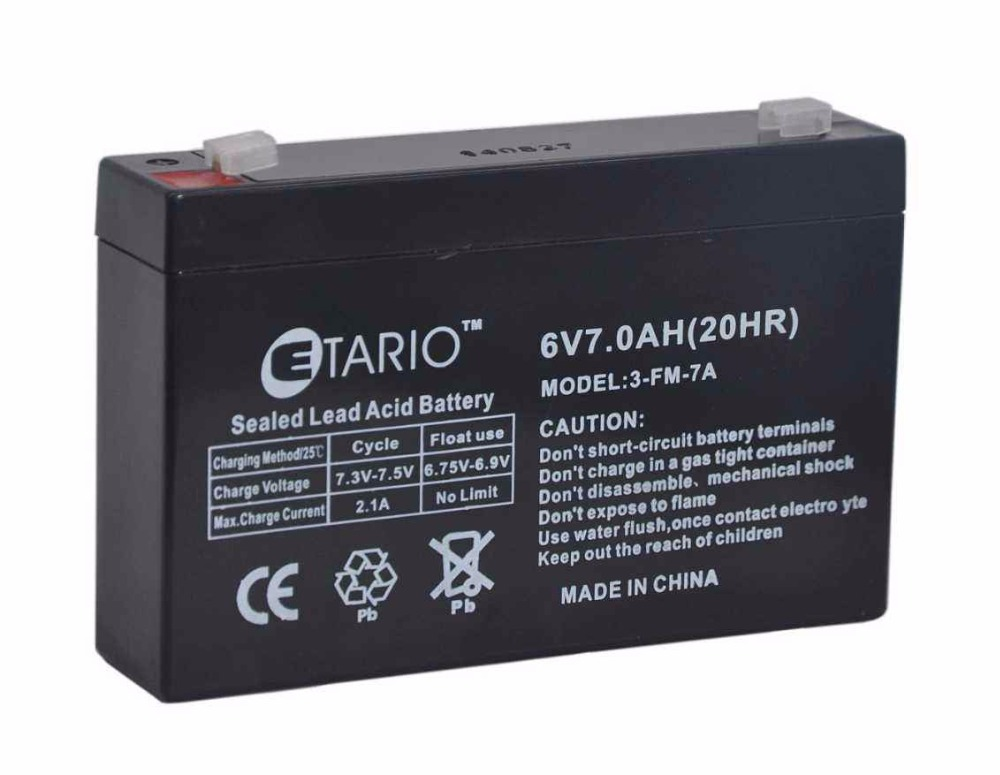 Free Shipping <font><b>6V</b></font> <font><b>7Ah</b></font> Big Capacity Send To All Countries Lead Acid Electric Ride On Car And Motorcycle Rechargable <font><b>Battery</b></font> image