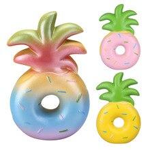 1PC Retail Vlampo Ananas Donut Squishy Squishies 16CM Trage Stijgende Squishy Speelgoed Regenboog Roze Geel Licentie Originele PU schuim