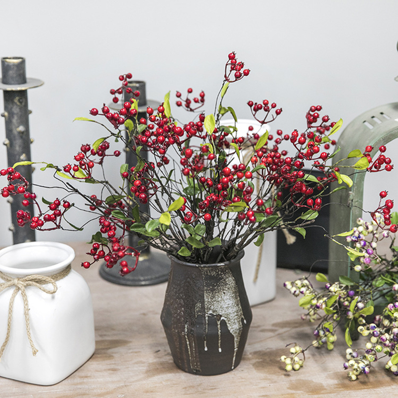 Zinmol Artificial Berry Plants California Berries Simulated Berry Artificial Flowers Wedding Decoration Home Garden Decor
