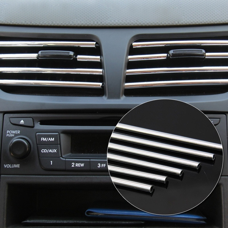 4m U Style Diy Car Interior Air Conditioner Outlet Vent
